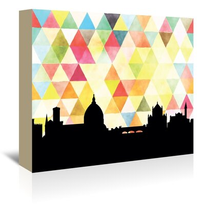Americanflat 'Florence_Triangle' by PaperFinch Graphic Art Wrapped on Canvas