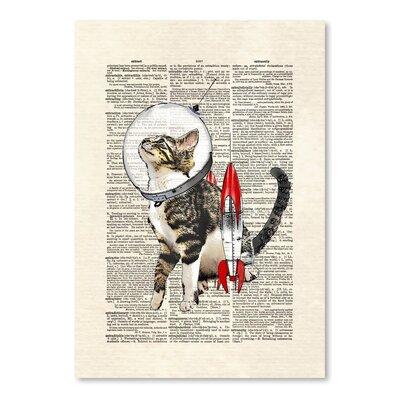 Americanflat 'Space Cat' by Matt Dinniman Graphic Art