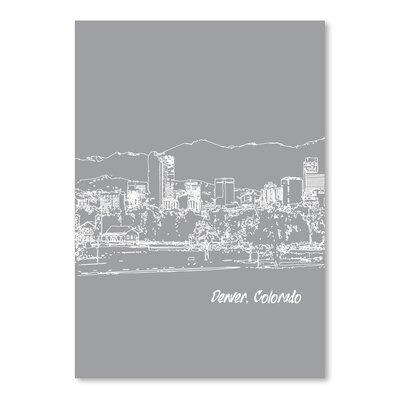 Americanflat 'Skyline Denver 2' by Brooke Witt Graphic Art