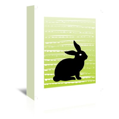 Americanflat 'Easter Bunny' by Ashlee Rae Graphic Art Wrapped on Canvas