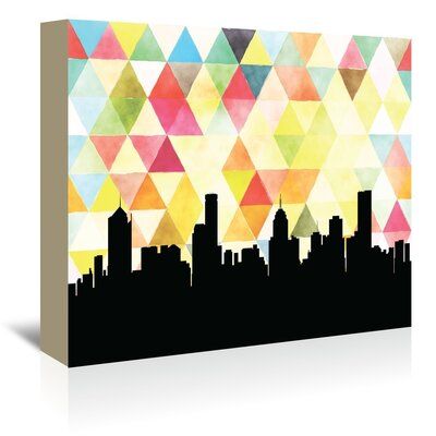 Americanflat 'Melbourne_Triangle' by PaperFinch Graphic Art Wrapped on Canvas