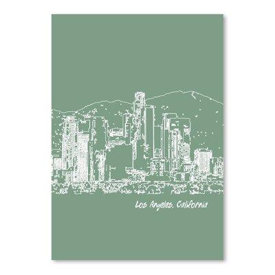Americanflat 'Skyline Los Angeles 6' by Brooke Witt Graphic Art