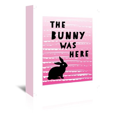 Americanflat 'The Bunny Was Here' by Ashlee Rae Typography Wrapped on Canvas