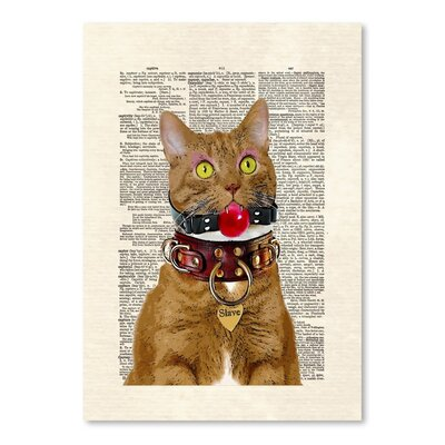 Americanflat 'Slave Kitty' by Matt Dinniman Graphic Art