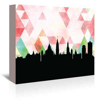 Americanflat 'Ottawa_Triangle' by PaperFinch Graphic Art Wrapped on Canvas
