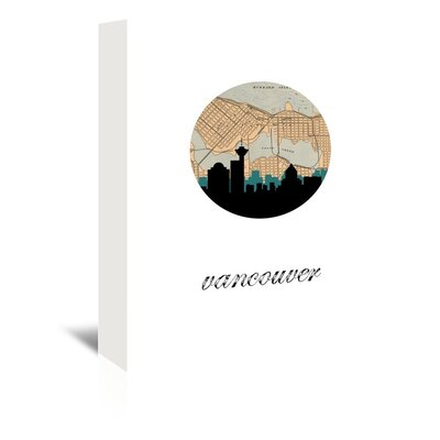 Americanflat 'Vancouver Map Skyline' by PaperFinch Graphic Art Wrapped on Canvas