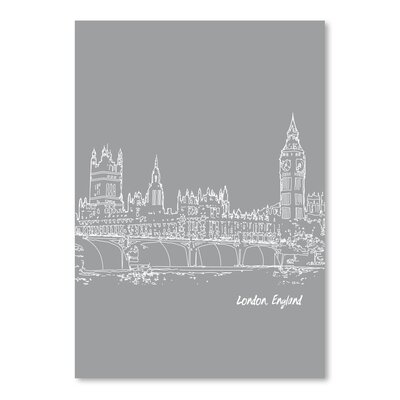 Americanflat 'Skyline London 2' by Brooke Witt Graphic Art