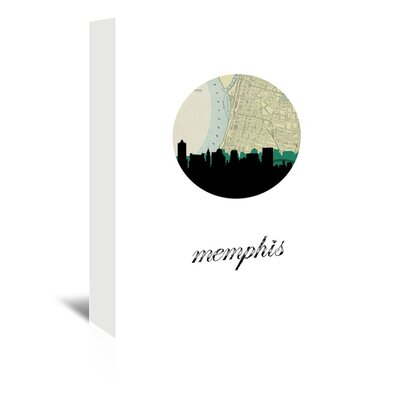 Americanflat 'Memphis Map Skyline' by PaperFinch Graphic Art Wrapped on Canvas