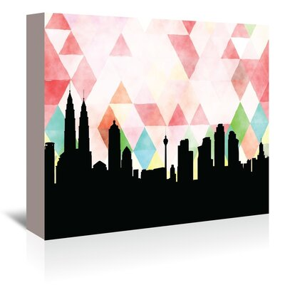 Americanflat 'Kuala-Lumpur_Triangle' by PaperFinch Graphic Art Wrapped on Canvas