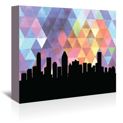 Americanflat 'Montreal_Triangle' by PaperFinch Graphic Art Wrapped on Canvas