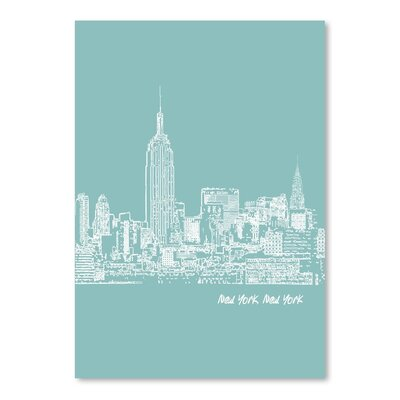 Americanflat 'Skyline New York City 5' by Brooke Witt Graphic Art