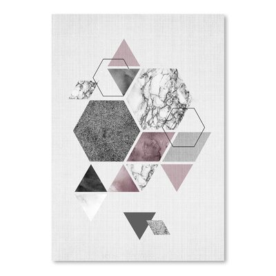 Americanflat 'Geometric Hexagons' by Lila and Lola Graphic Art