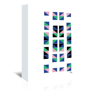 Americanflat 'Geometric Tracks' by Ashlee Rae Graphic Art Wrapped on Canvas