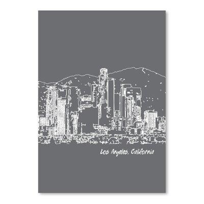 Americanflat 'Skyline Los Angeles 1' by Brooke Witt Graphic Art