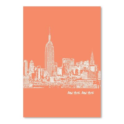 Americanflat 'Skyline New York City 8' by Brooke Witt Graphic Art