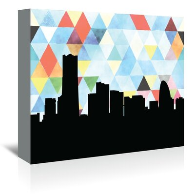 Americanflat 'Yokohama_Triangle' by PaperFinch Graphic Art Wrapped on Canvas