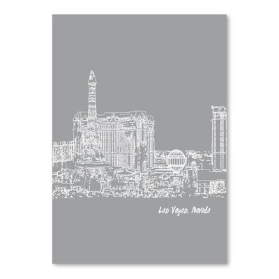 Americanflat 'Skyline Las Vegas 2' by Brooke Witt Graphic Art