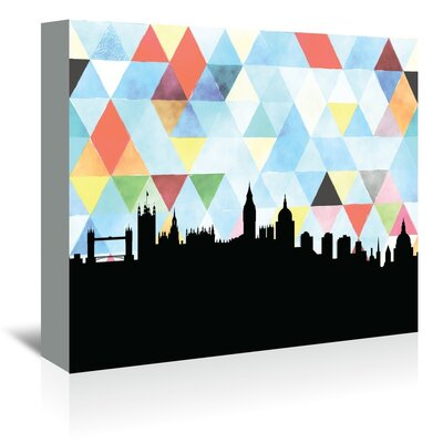 Americanflat 'London_Triangle' by PaperFinch Graphic Art Wrapped on Canvas
