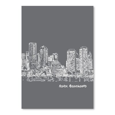 Americanflat 'Skyline Boston 1' by Brooke Witt Graphic Art
