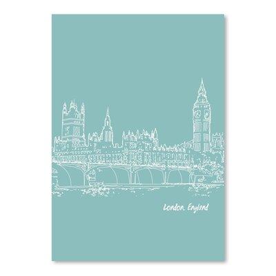 Americanflat 'Skyline London 5' by Brooke Witt Graphic Art