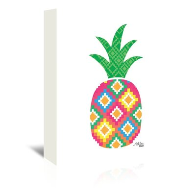 Americanflat 'Mexicano Pineapple' by Ashlee Rae Graphic Art Wrapped on Canvas