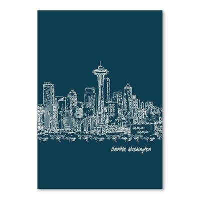 Americanflat 'Skyline Seattle 3' by Brooke Witt Graphic Art
