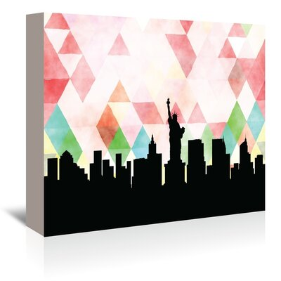 Americanflat 'NewYork_Triangle' by PaperFinch Graphic Art Wrapped on Canvas