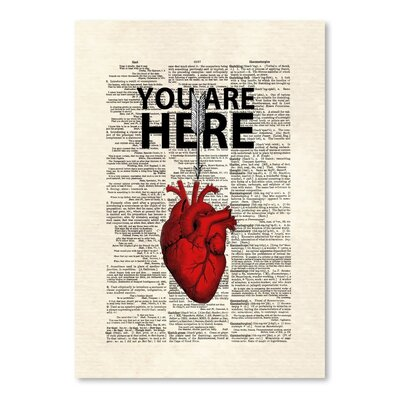 Americanflat 'You are Here' by Matt Dinniman Graphic Art