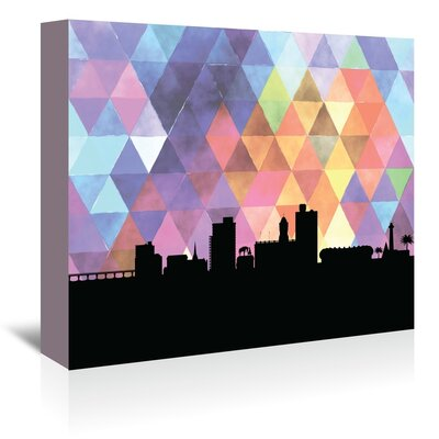Americanflat 'PortElizabeth_Triangle' by PaperFinch Graphic Art Wrapped on Canvas