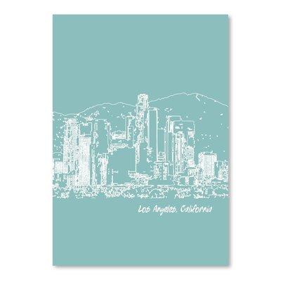 Americanflat 'Skyline Los Angeles 5' by Brooke Witt Graphic Art