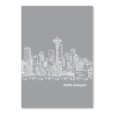 Americanflat 'Skyline Seattle 2' by Brooke Witt Graphic Art