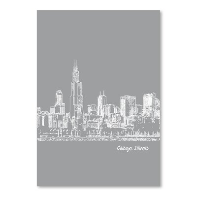 Americanflat 'Skyline Chicago 2' by Brooke Witt Graphic Art