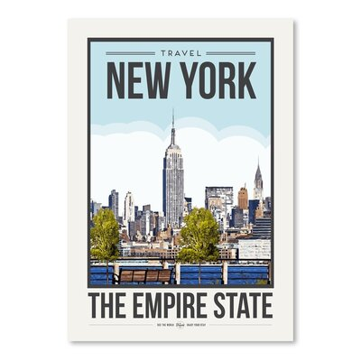 Americanflat 'Travel Poster New York City' by Brooke Witt Vintage Advertisement