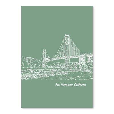 Americanflat 'Skyline San Francisco 6' by Brooke Witt Graphic Art