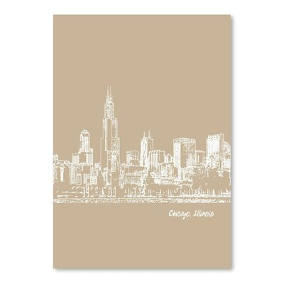 Americanflat 'Skyline Chicago 7' by Brooke Witt Graphic Art