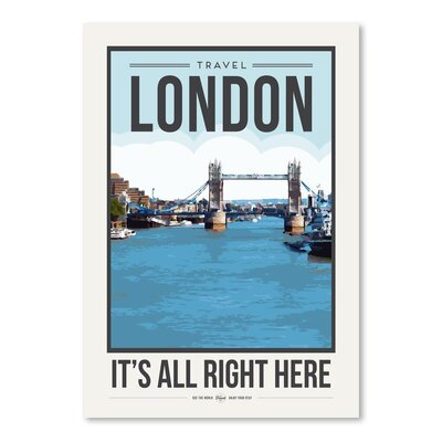 Americanflat 'Travel Poster London' by Brooke Witt Vintage Advertisement