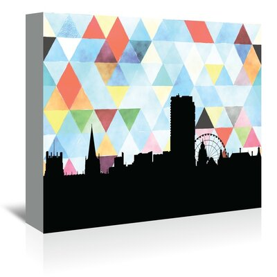 Americanflat 'Sheffield_Triangle' by PaperFinch Graphic Art Wrapped on Canvas