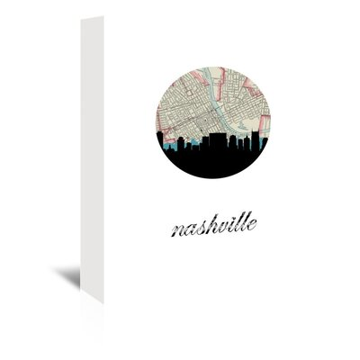 Americanflat 'Nashville Map Skyline' by PaperFinch Graphic Art Wrapped on Canvas