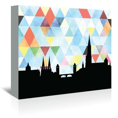 Americanflat 'Strasbourg_Triangle' by PaperFinch Graphic Art Wrapped on Canvas