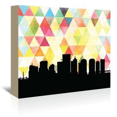 Americanflat 'Richmond_Triangle' by PaperFinch Graphic Art Wrapped on Canvas
