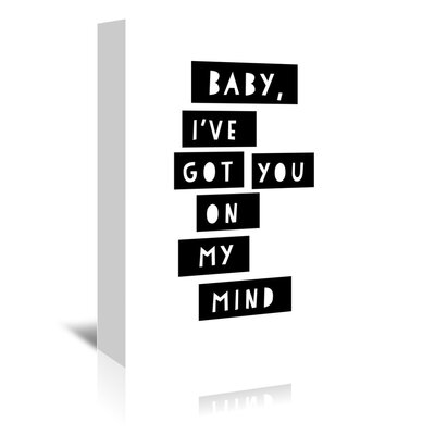 Americanflat 'On My Mind' by Ashlee Rae Typography Wrapped on Canvas