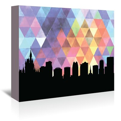 Americanflat 'Orlando_Triangle' by PaperFinch Graphic Art Wrapped on Canvas