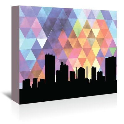 Americanflat 'Toledo_Triangle' by PaperFinch Graphic Art Wrapped on Canvas