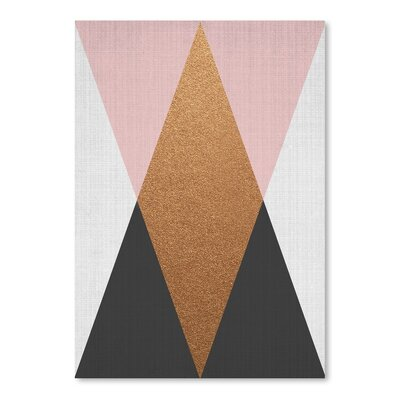 Americanflat 'Geometric Pink Bronze' by Lila and Lola Graphic Art