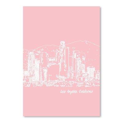 Americanflat 'Skyline Los Angeles 9' by Brooke Witt Graphic Art