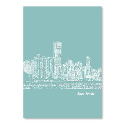 Americanflat 'Skyline Miami 5' by Brooke Witt Graphic Art