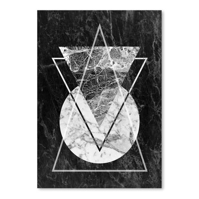 Americanflat 'Geo Triangles' by Lila and Lola Graphic Art