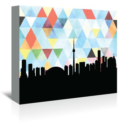 Americanflat 'Toronto Triangle' by PaperFinch Graphic Art Wrapped on Canvas