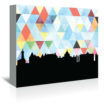 Americanflat 'Victoria_Triangle' by PaperFinch Graphic Art Wrapped on Canvas