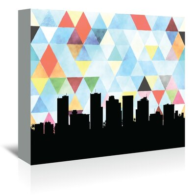 Americanflat 'Phoenix Triangle' by PaperFinch Graphic Art Wrapped on Canvas
